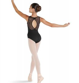 Bloch CL3515-Leonora-Open Wrap Back Tank Leotard-BLACK