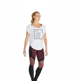 Bloch FT5112-Hazy-Printed Dancer's life T-Shirt-WHITE