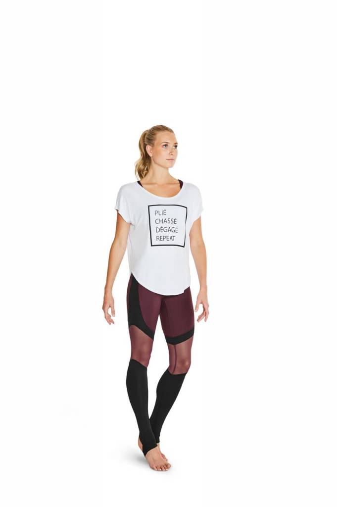 Bloch FT5112-Hazy-Printed Dancer's life T-Shirt-WHITE