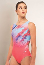 MotionWear 1354-812-Sublimation Fearless Open Back Leotard