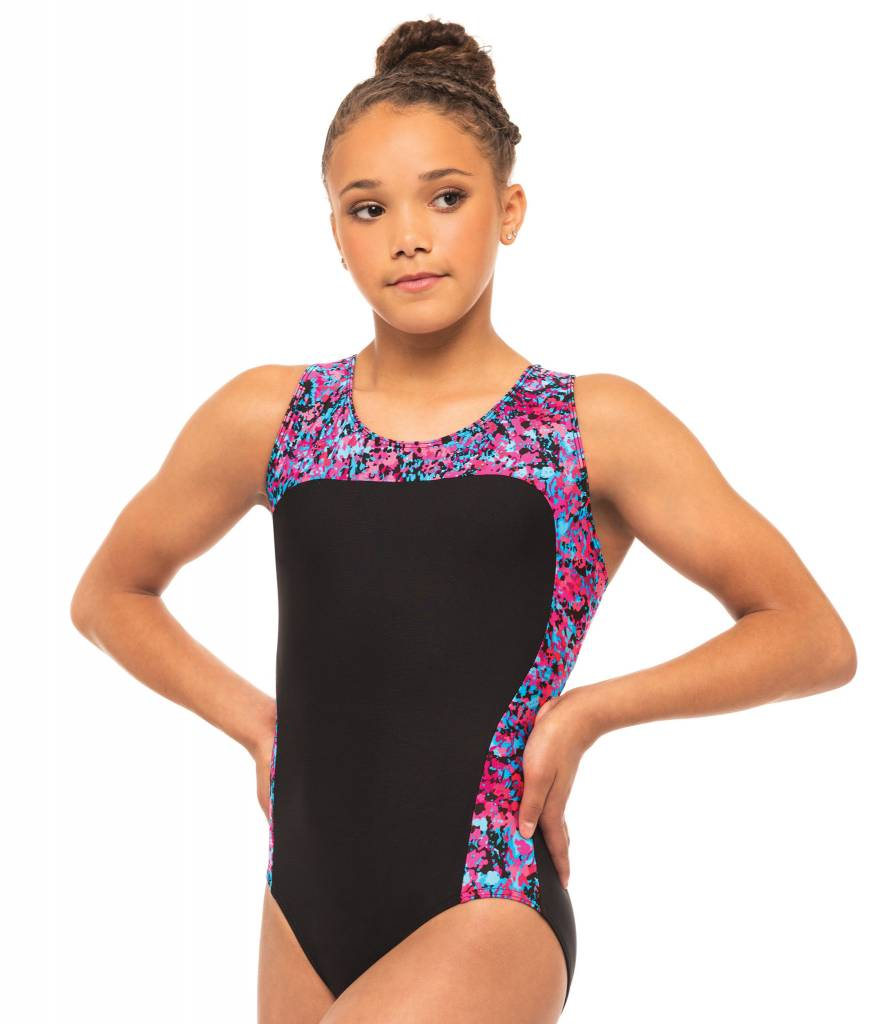 MotionWear 1389-301-Gym Racerback Side Stripe Leo-WATERLOO-MA