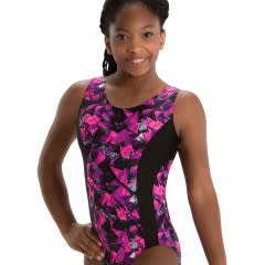 MotionWear 1240-552-Gym Insert Racer Back leo-KINETIC CORAL-LC