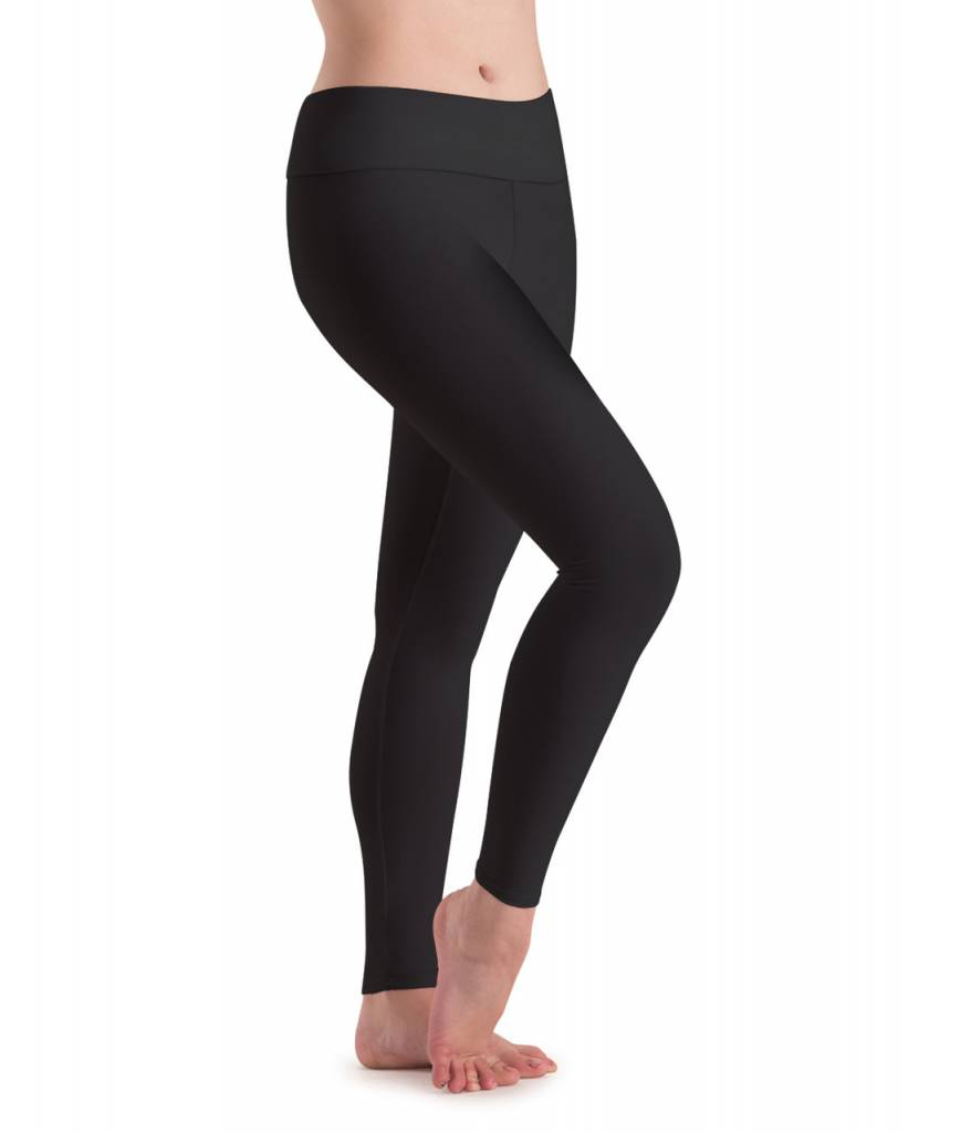 MotionWear 7018-197-High Waist Leggings-BLACK
