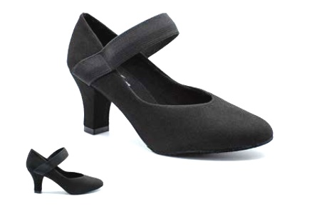 "SoDanca BL188-RANDY-Ballroom Shoes 2.5"" Suede Sole Micro-Suede Upper-BLACK"