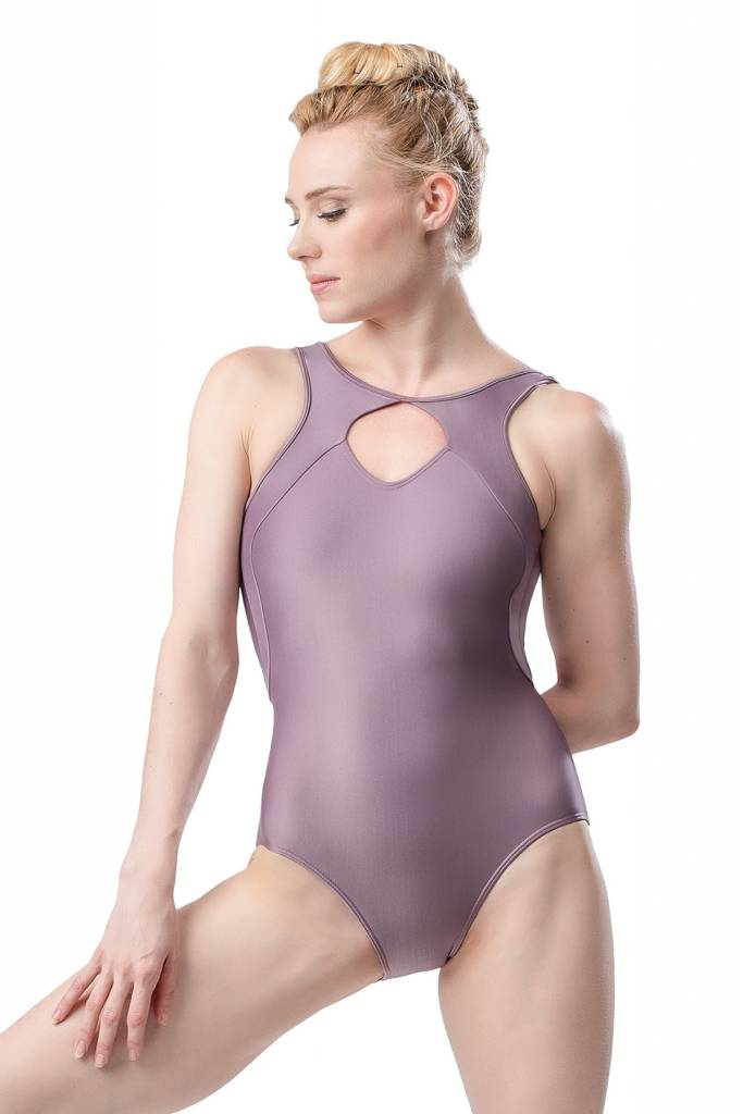 SoDanca RDE-1930-Adult Shimmer Tank Leotard keyhole Opening at Neckline And Low-Cut Back.
