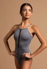 MotionWear 2590-Halter Center Stripe Cami Leotard