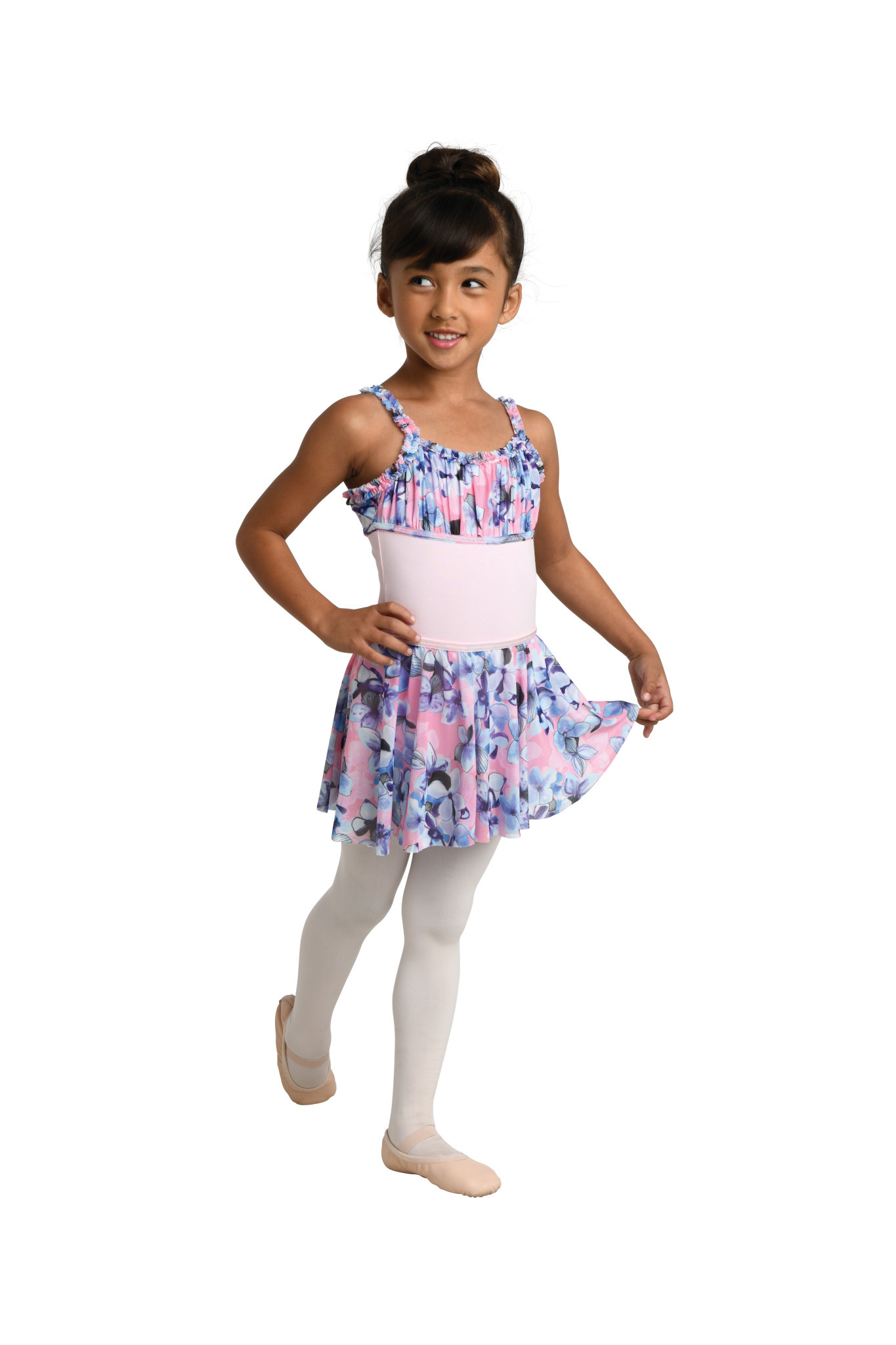 Danshuz 2750PC-Child Printed Mesh Circle Skirt