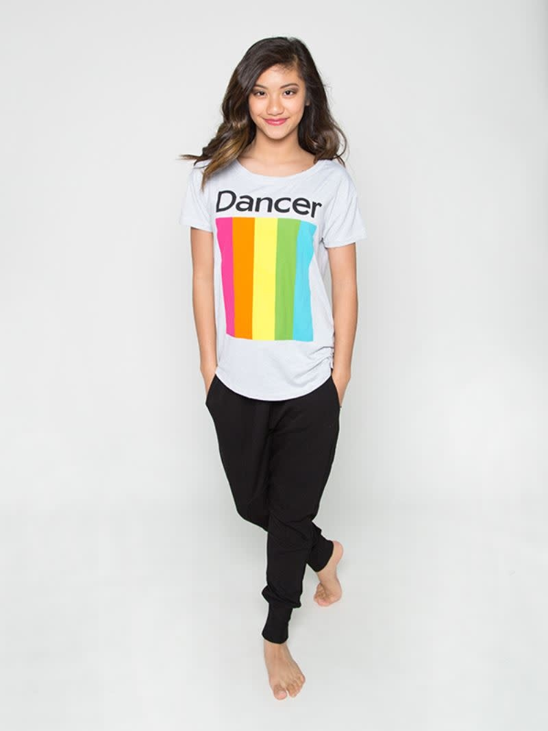 Sugar & Bruno D9336-Rainbow Dancer Upscale Tee