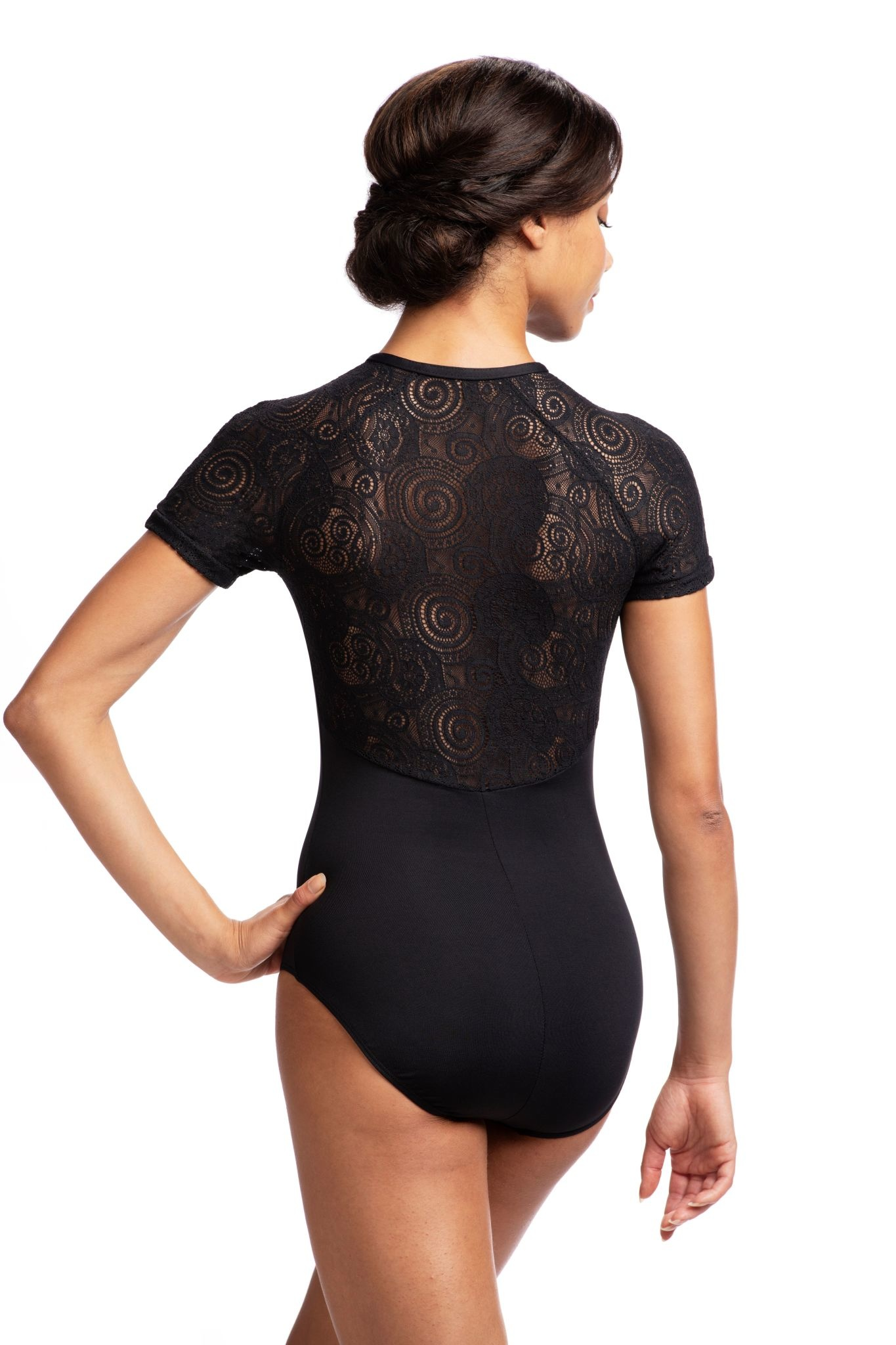 AinslieWear 1068LL-Emily Short Sleeve With Lola Lace