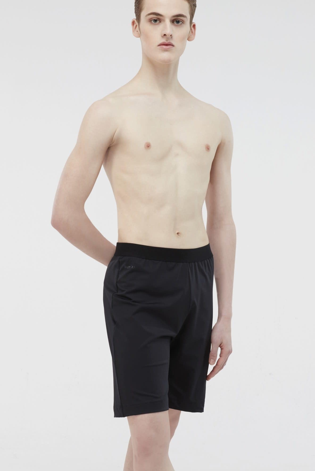 Wear Moi LORCA-  Men's Short Loose fit Microfiber-BLACK