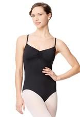 Lulli Dancewear LUF568-Nayara Mesh Camisole Leotard-BLACK