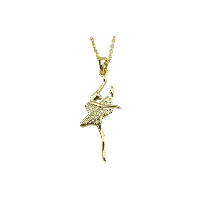 American Dance Supply 562-Ballerina Necklace