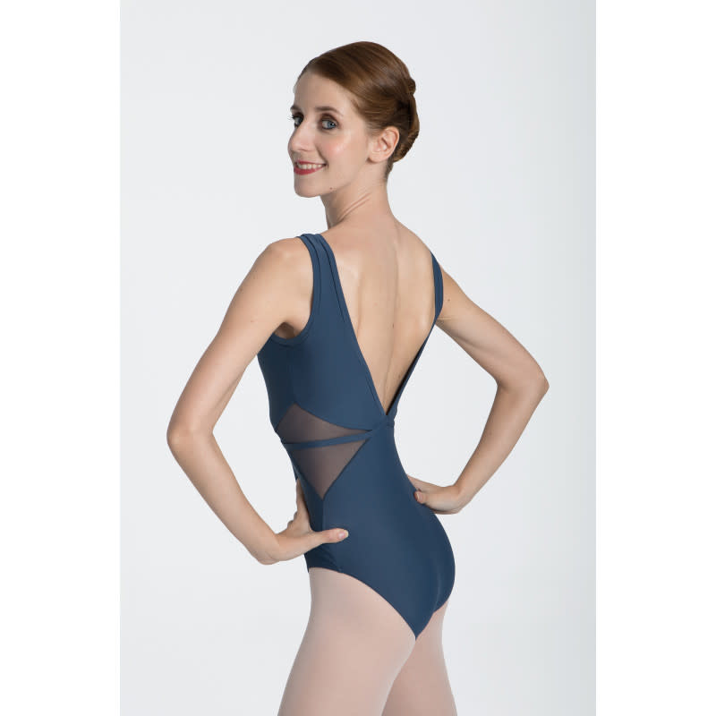 Intermezzo 31514-Tank Leotard Open V Back Mesh Insert