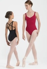 Intermezzo 31516-37-Cami Leotard X-Strap Back-BLACK-LARGE