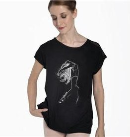 Intermezzo 6501-Ballerina Short Sleeve Shirt-BLACK