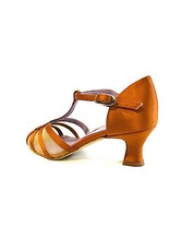 Merlet KARMINA-1720-301--Ballroom Shoes 2'' Suede Sole Satin-DARK TAN