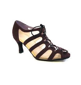 "Merlet SYA-1404-245-Ballroom Shoes 2.5"" Suede Sole Velvet Leather-BETTERAVE"