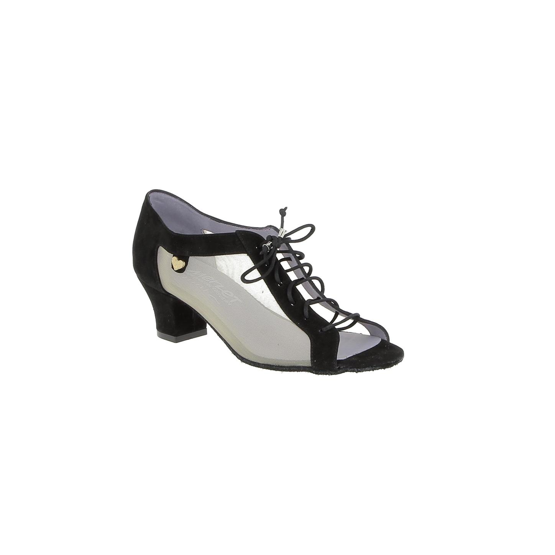 "Merlet PARMA-1404-001-Ballroom Shoes 1.7"" Suede Sole Velvet Leather-BLACK"