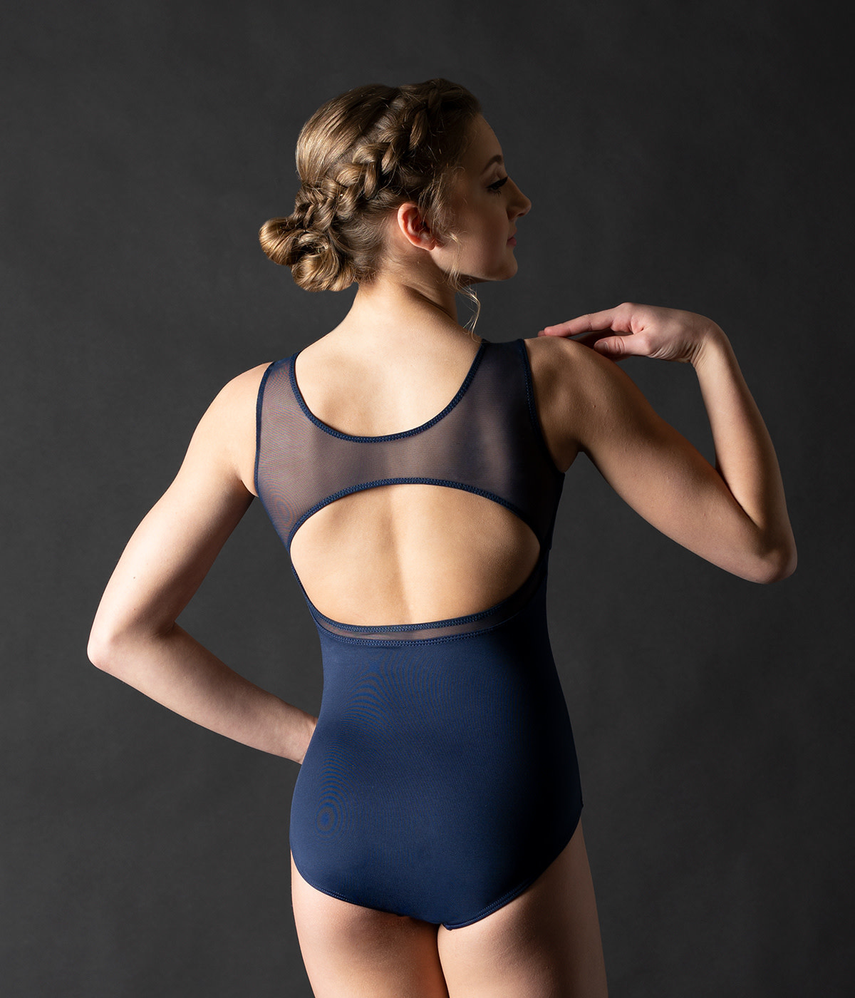 MotionWear 2268-Pointed Sweetheart Inset Tank Leotard