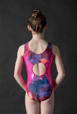 MotionWear 1427-993-2Tones Open Circle Back Gym Leo