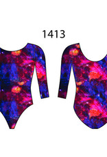MotionWear 1413-993-3/4 Sleeve Gym Leotard-SOLSTICE