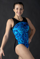 MotionWear 1331-804-2Tone Binding Racerback Gym Leo-CROSS ROADS