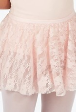 Dasha 4436 Girls Lace Skirt-PINK