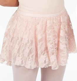 Dasha 4436 Girls Lace Skirt-PINK