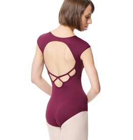 Lulli Dancewear LUB289-Microfiber Cap Sleeve Leotard-NAVY