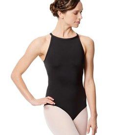 Lulli Dancewear LUB287-Microfiber Halter Neck Leotard Taliana-BLACK-XS