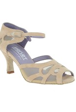 "Merlet SAMUEL-1404-106-Ballroom Shoes 2.5"" Suede Sole Velvet Leather-BEIGE"