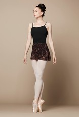 Bloch R9821B-Floral Mesh Wrap Skirt ONE SIZE-MAPLE