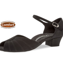 Diamant 001-103-040-Ballroom Shoes 1.2'' Suede Sole-BLACK NUBUCK