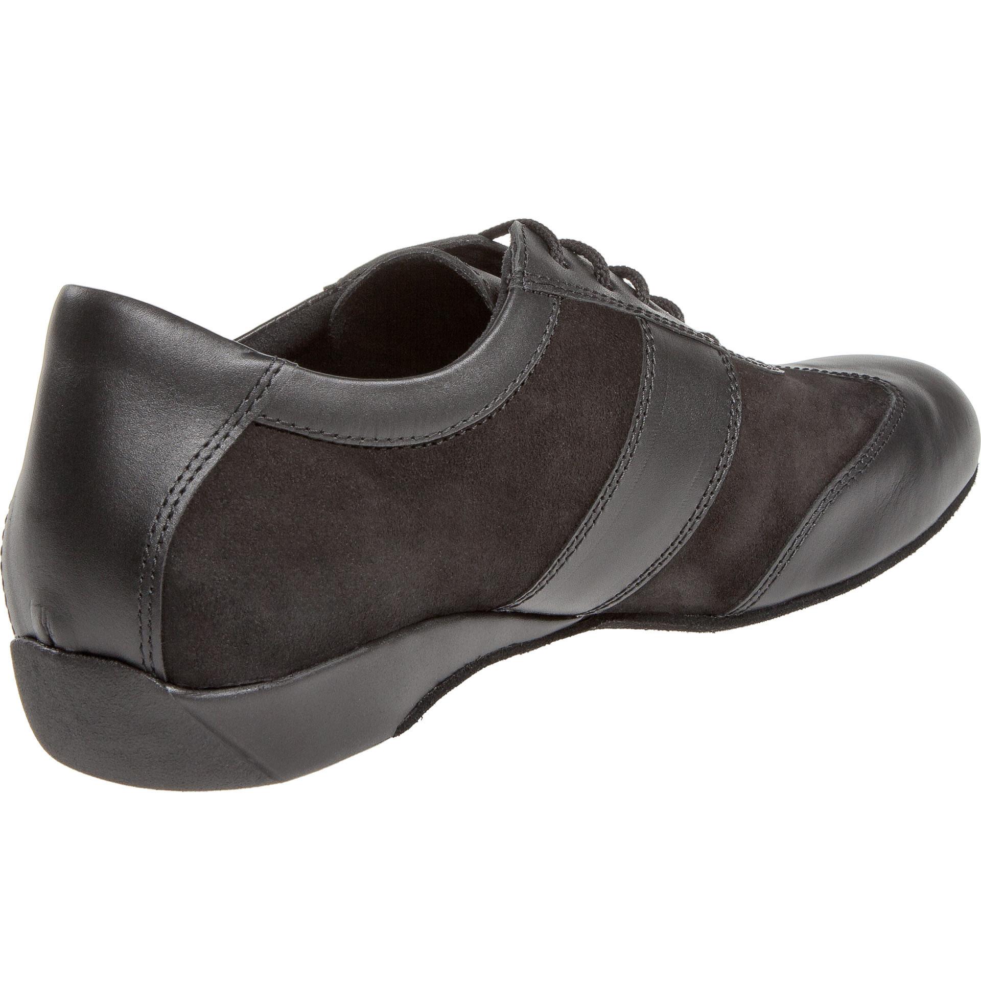 Diamant 123-225-070-Men Ballroom Sneakers 1'' Suede Sole-BLACK LEATHER / SUEDE