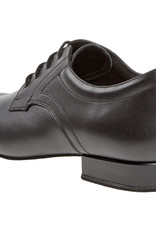 Diamant 085-026-028-Men Ballroom Shoes 1'' Extra Wide Suede Sole-BLACK LEATHER