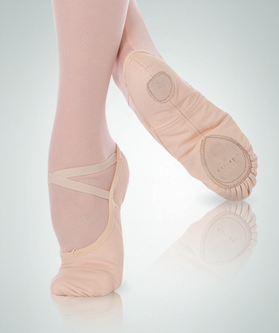 BodyWrappers 246A-Adult Total Stretch Canevas Ballet Slippers