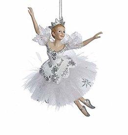 KURT S. ADLER C8574-Snow Queen ballerina Ornement