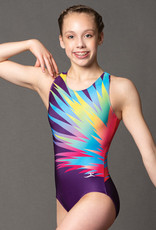 MotionWear 1725-812-Gym Tank Leotard-FEATHERED