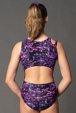 MotionWear 1673-148-Shoulder Cutout Gym leo-CYBERSPACE