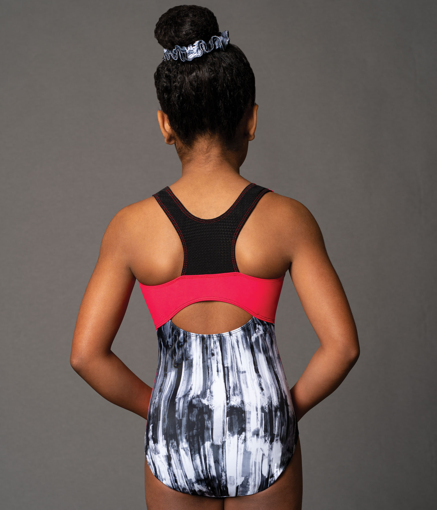 MotionWear 1389-978-Racerback Gym Leo-CHARCOAL