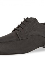 Diamant 094-025-448-Men Ballroom Shoes 1'' Suede Sole-Nubuck Leather-BLACK