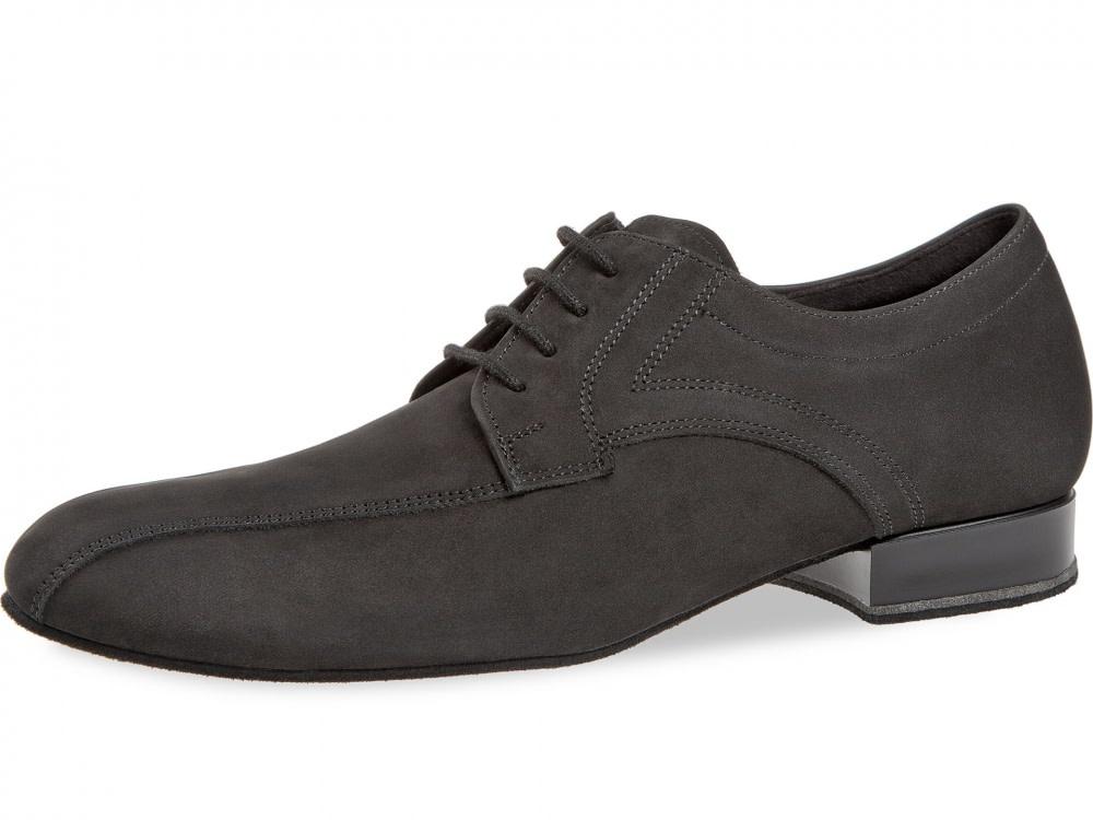 Diamant 094-025-448-Men Ballroom Shoes 1'' Suede Sole-Nubuck Leather-BLACK