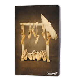 "DanzArte NO-A5-M12-''Hanging Pointe Shoes"" A5 Laminated Notebook (6''X8'')"