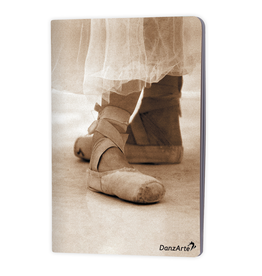 "DanzArte NO-A5-M07-""Pointe Shoes sepia"" A5 matt laminated notebook (6''X8"")"