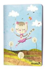"""DanzArte NO-A5-MPA02-""""Dancing Cat On Meadow"""" A5 Matt Laminated Notebook (6""""X8"""")"""