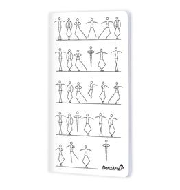 """DanzArte NO-A6-MSF02-""""Stick Figures Dancing"""" A6 Matt Laminated Notebook"""