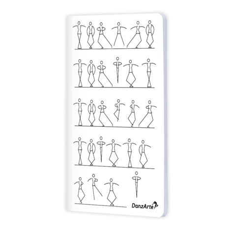 "DanzArte NO-A6-MSF02-""Stick Figures Dancing"" A6 Matt Laminated Notebook (3.5""X5.5"")"