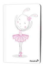 "DanzArte NO-A6-MPA02-""Dancing Bunny On Pointe"" A5 matt laminated notebook (3.5""X5.5"")"