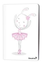 "DanzArte NO-A6-MPA02-""Dancing Bunny On Pointe"" A6 matt laminated notebook (3.5""X5.5"")"