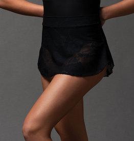 MotionWear 1045-782-Pull-On Skirt With Merrow Hem-BLACK